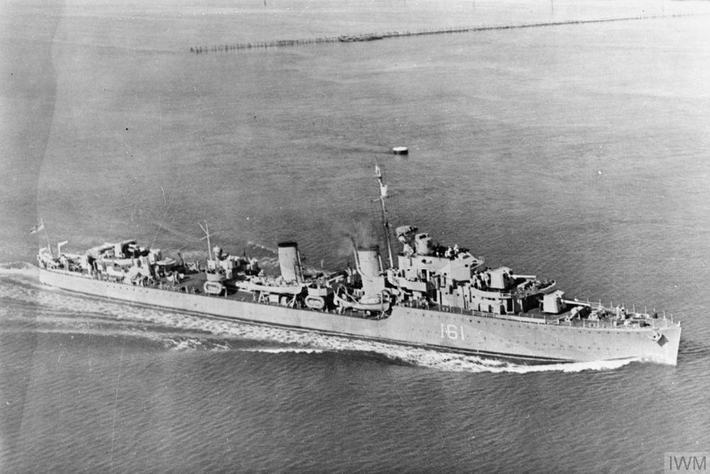 Britse Torpedobootjager HMS Ilex (D61)