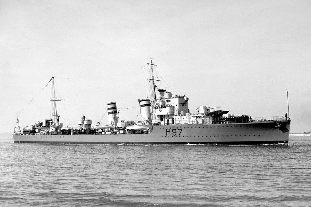 Britse Torpedobootjager HMS Hyperion (H97)