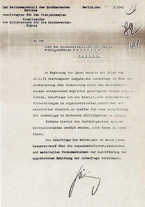 Autorisatiebevel Jodenvraagstuk (31-07-1941)