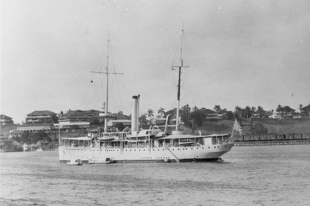 Amerikaanse Kanonneerboot USS Asheville (PG-21)