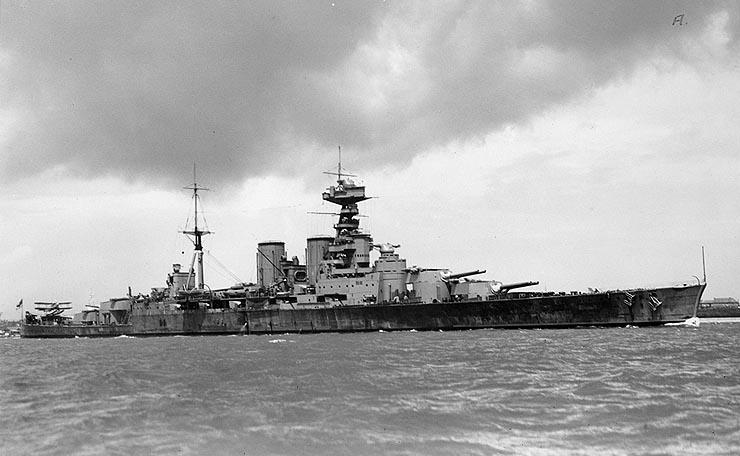 Britse slagkruiser HMS Hood