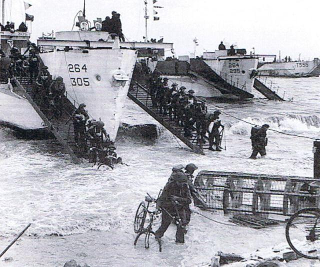 Landings on Gold Beach