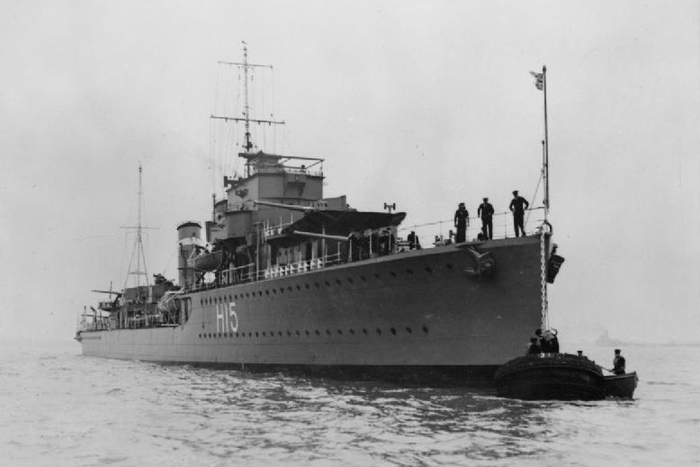 Britse Torpedobootjager HMS Esk (H15)