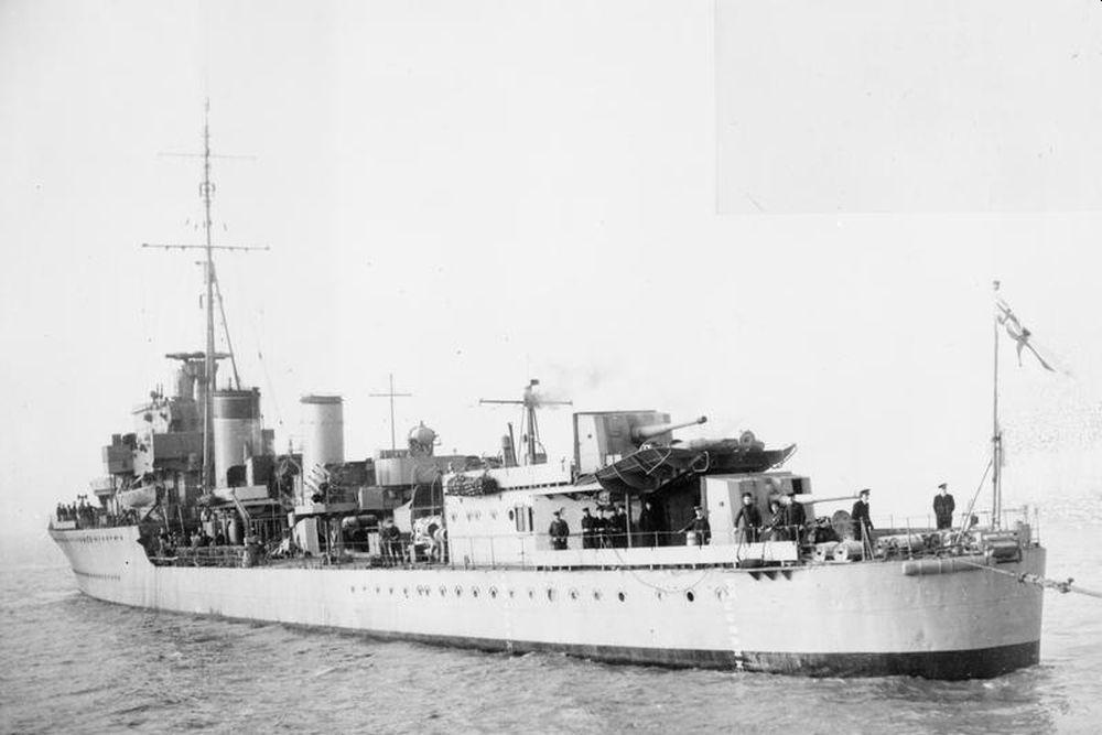 Britse Torpedobootjager HMS Inglefield (D02)