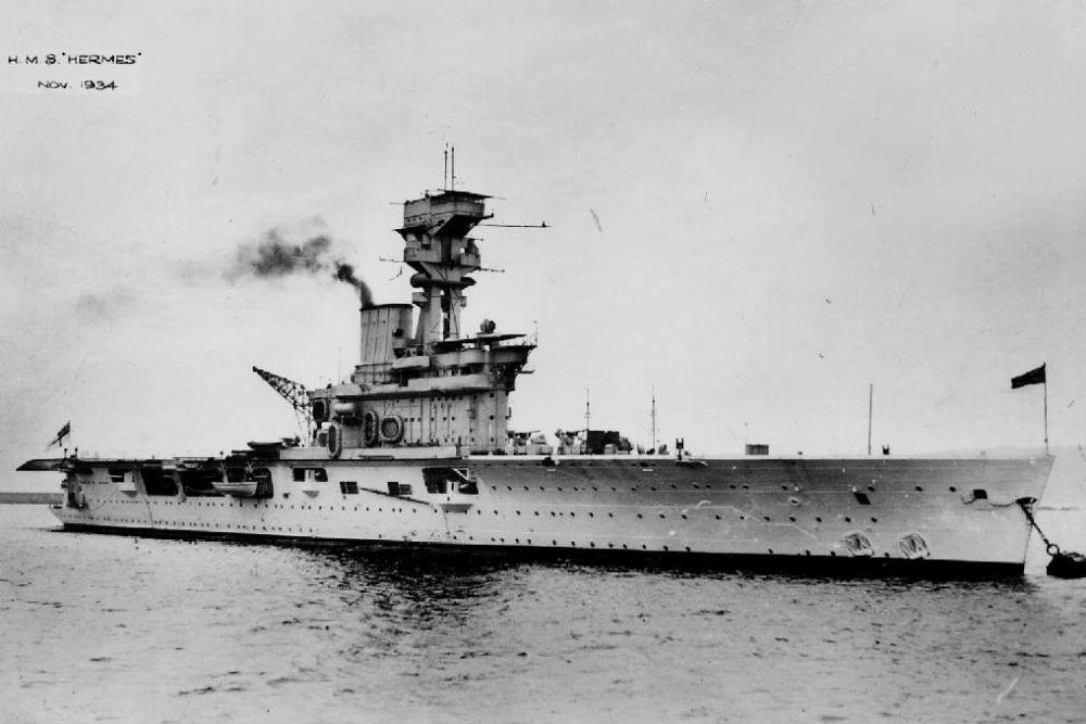 Britse Vliegdekschip HMS Hermes (95)
