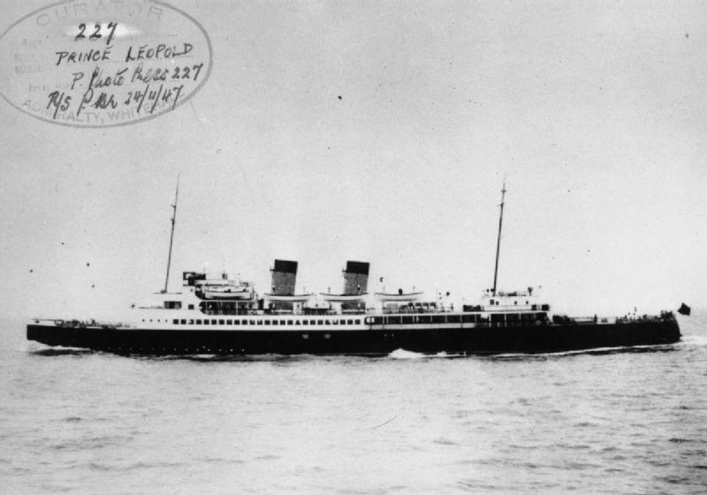 Britse Landing Ship Infantry HMS Prince Leopold
