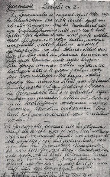 Geuzenactie Bericht no.2 (18-05-1940)