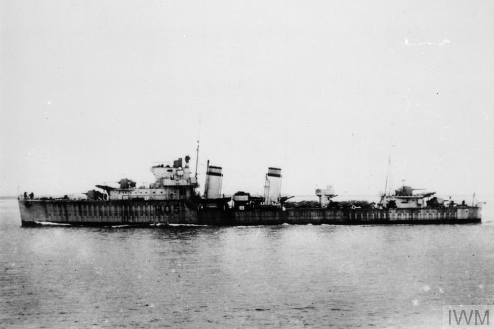 Britse Torpedobootjager HMS Greyhound (H05)