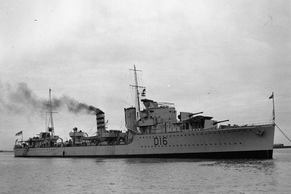 Britse Torpedobootjager HMS Ivanhoe (D16)