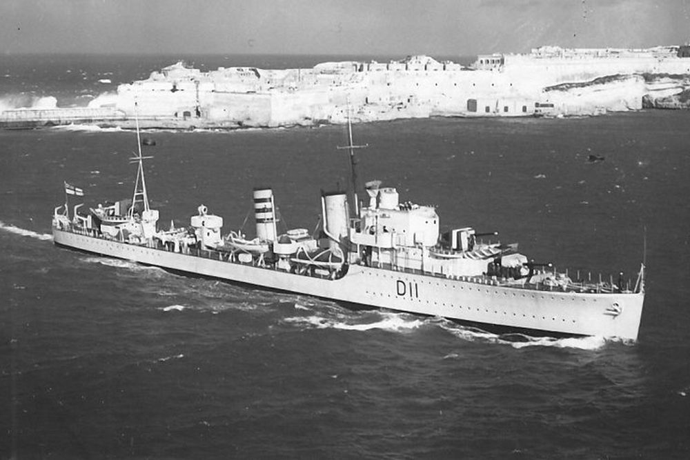 Britse Torpedobootjager HMS Impulsive (D11)