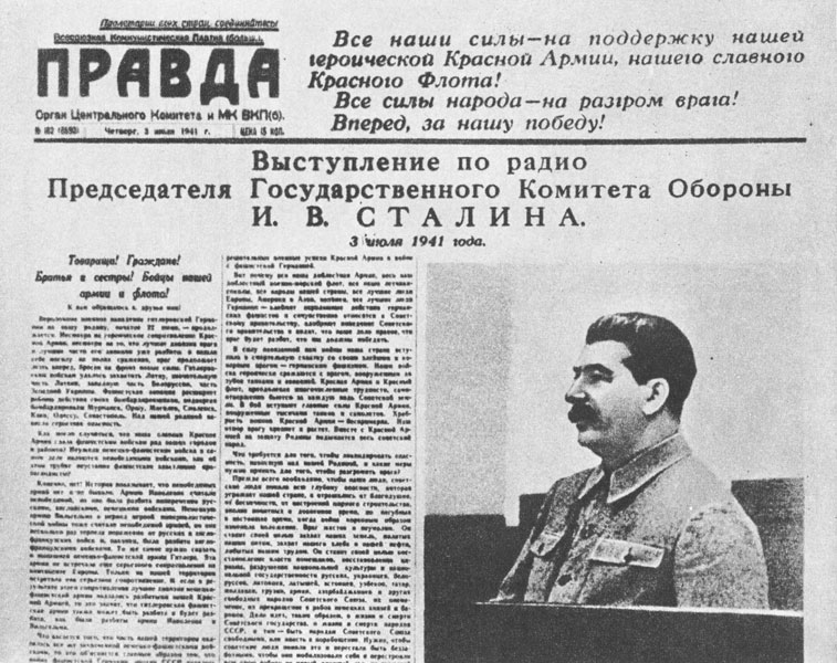 Radio speech by Stalin 03-07-1941