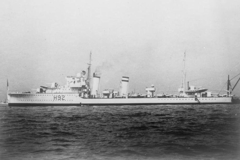 Britse Torpedobootjager HMS Glowworm (H92)