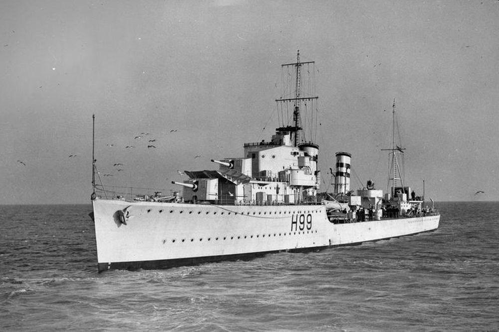 Britse Torpedobootjager HMS Hero (H99)