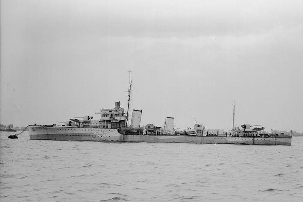 Britse Torpedobootjager HMS Hotspur (H01)